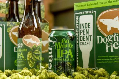 dogfish head 60 minute ipa packaging