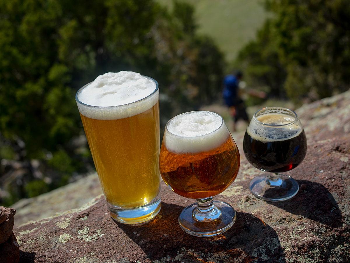 hiking beer