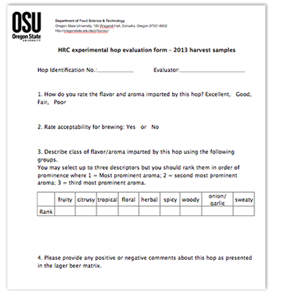 OSU Hops Form