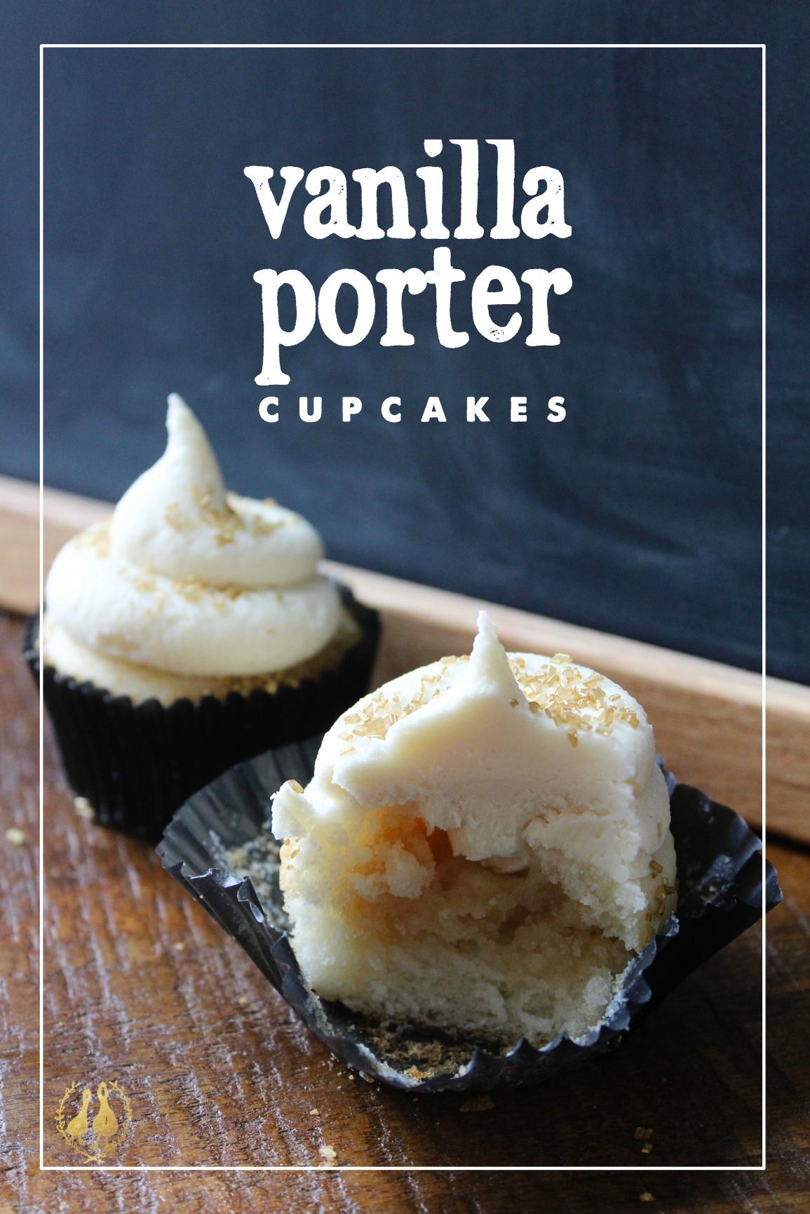 vanilla porter cupcakes