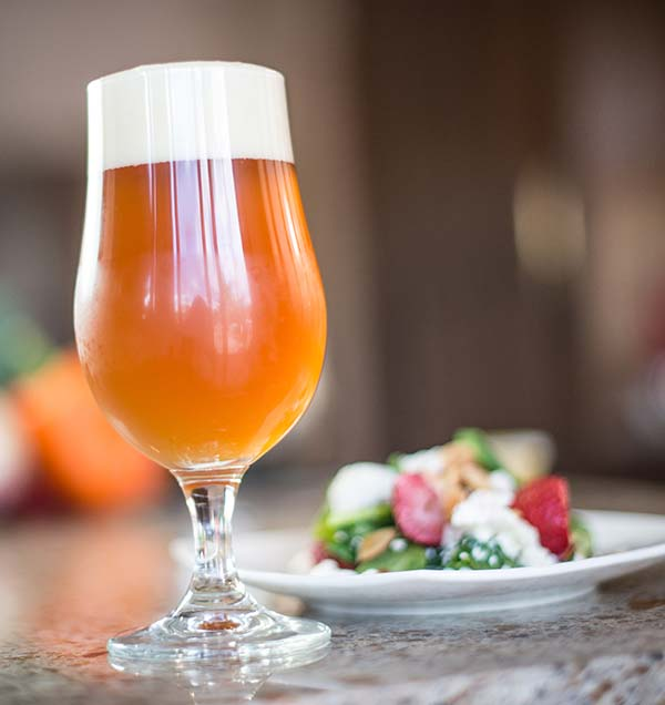 ring in spring  craft beer at the dinner table