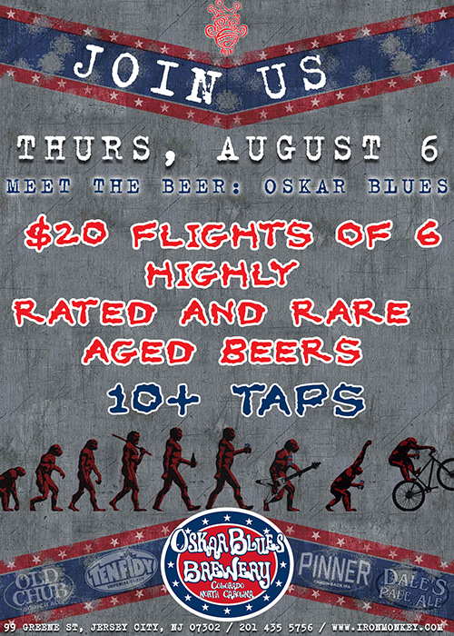 meet the beer oskar blues at the iron monkey