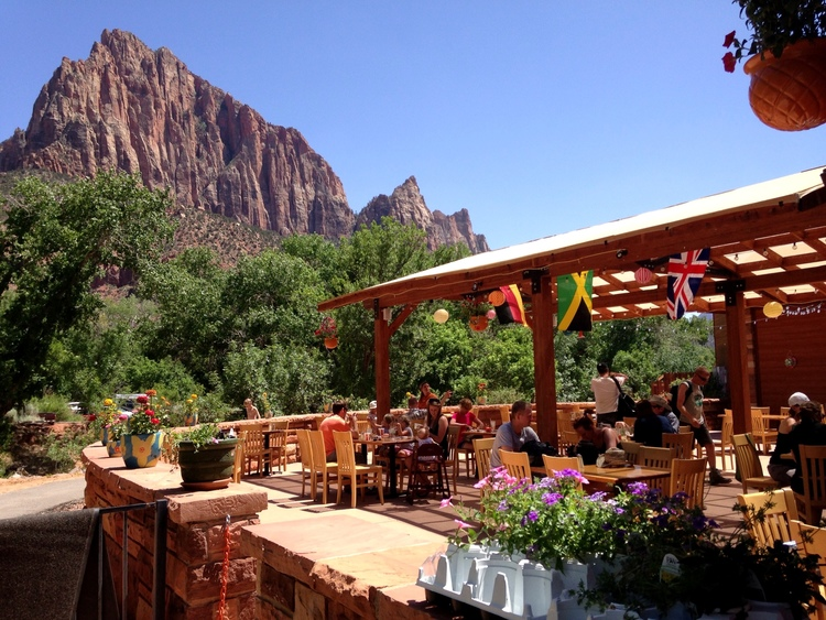 Zion Canyon Brew Pub deck