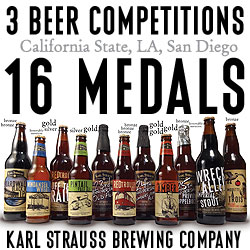 Karl Strauss Brewing Company Wins 16 Medals in 1 Month!