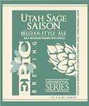 Utah Sage Saison   Epic Brewing Company