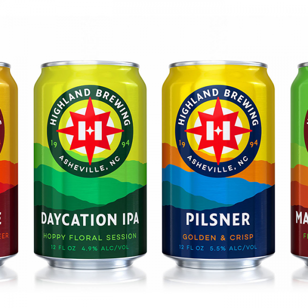 highland brewing rebrand