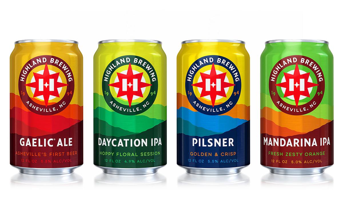 highland brewing rebrand