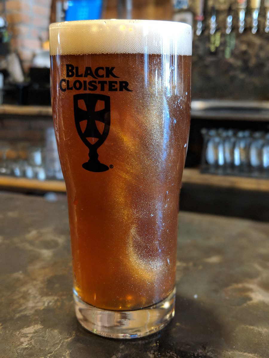 glitter beer black cloister brewing