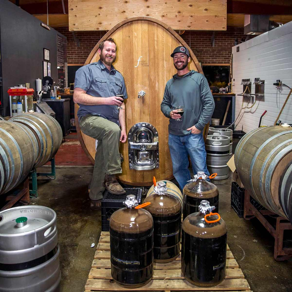 Imbib Custom Brews barrel-aging beers