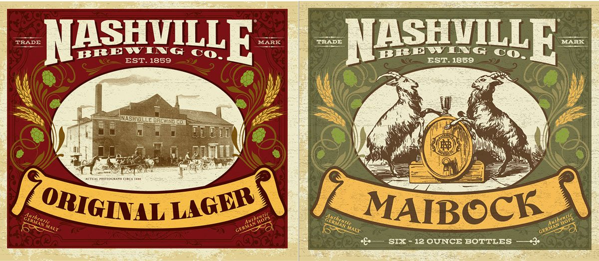 Nashville Brewery Labels