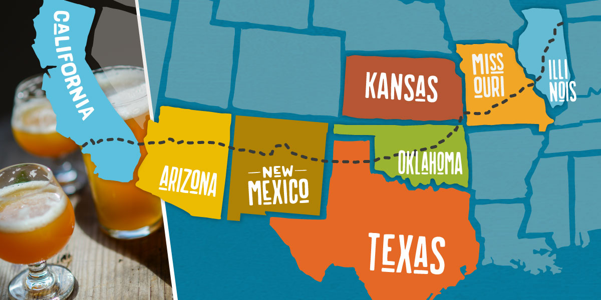 Map Of Texas Breweries.Epic Route 66 Craft Brewery Road Trip