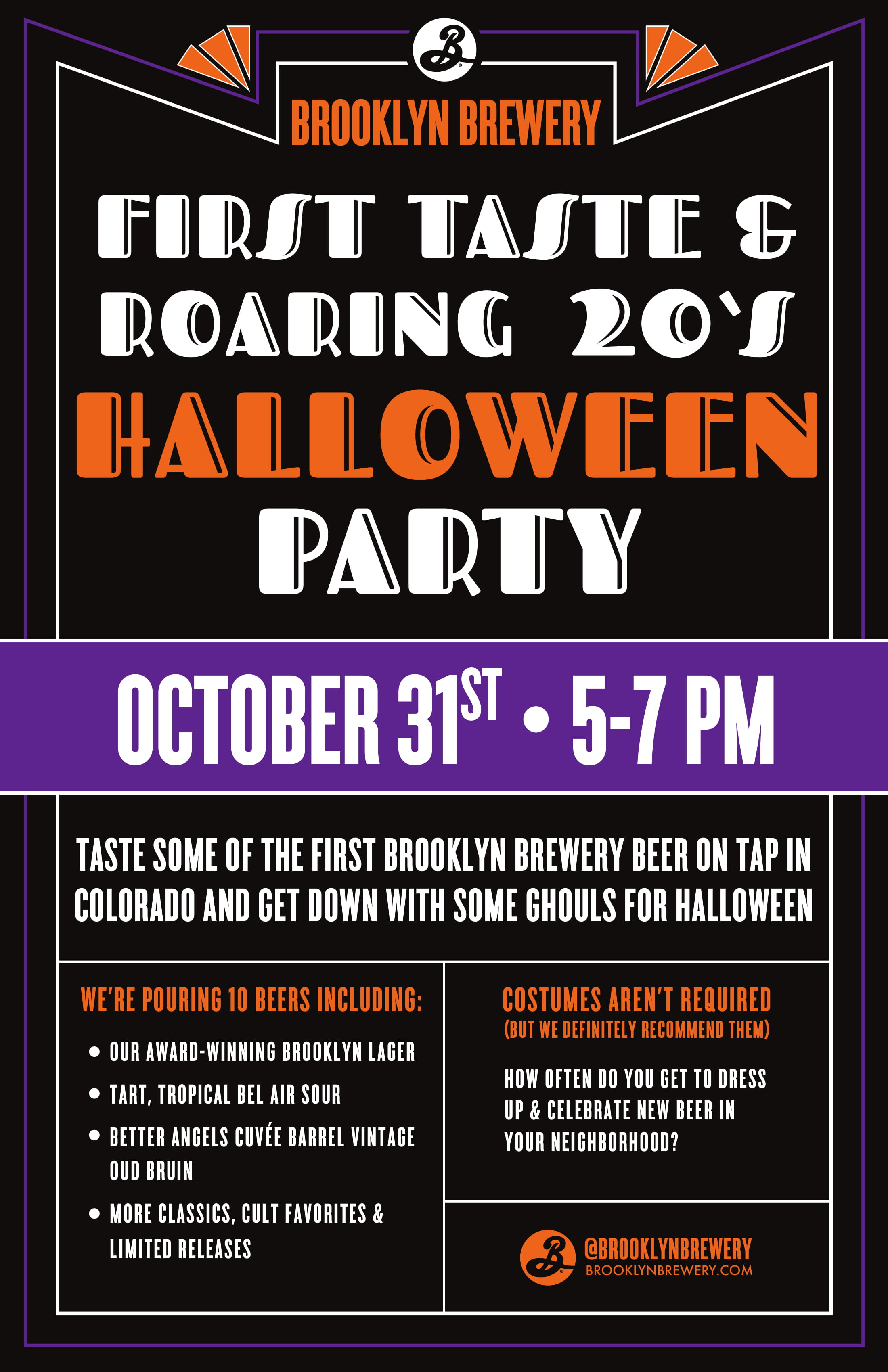Brooklyn Brewery First Taste & Roaring '20s Halloween Party at Parry's Northglenn