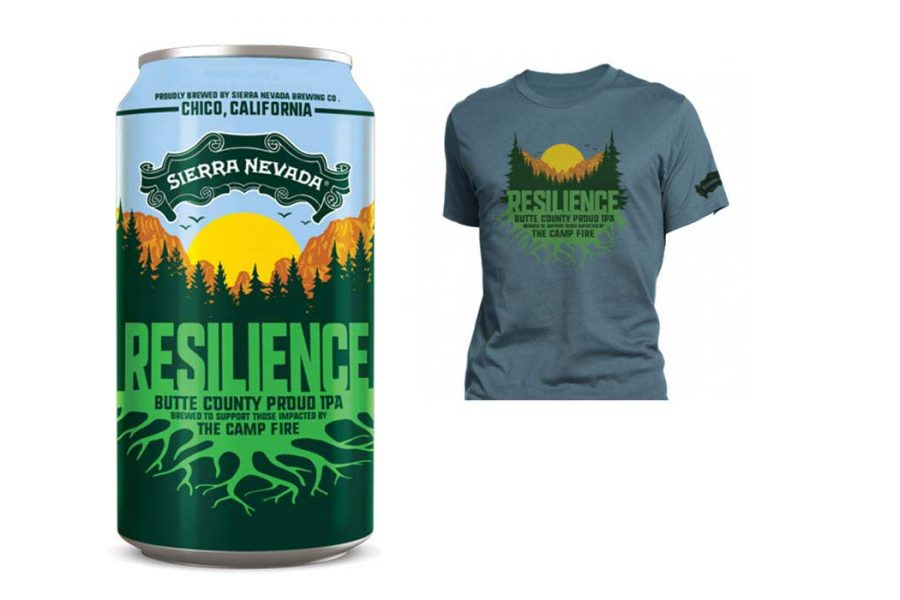 Sierra Nevada wildfire relief t-shirt