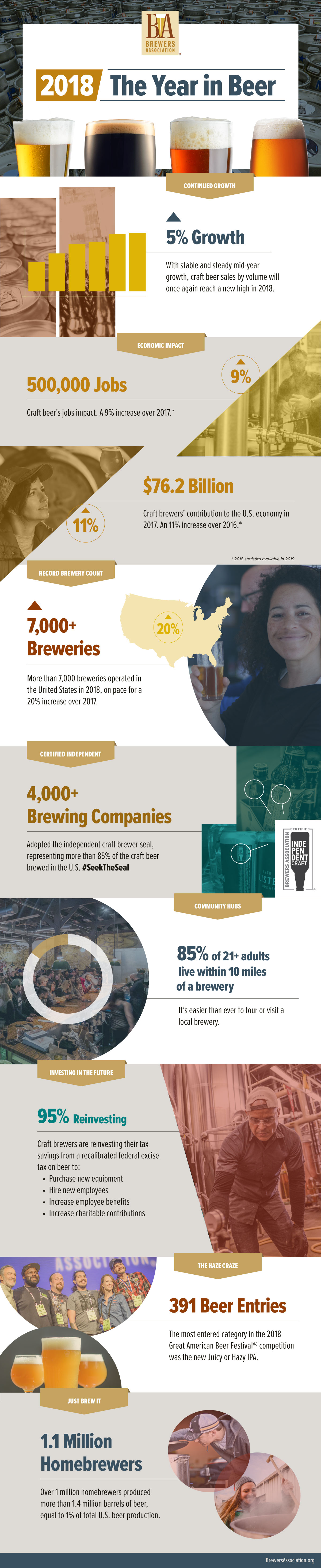 2018 in craft beer infographic