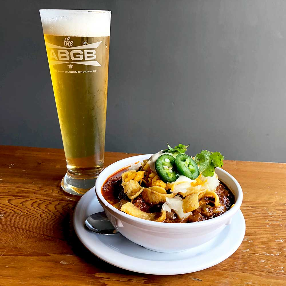 Helles Chili at Austin Beer Garden Brewing