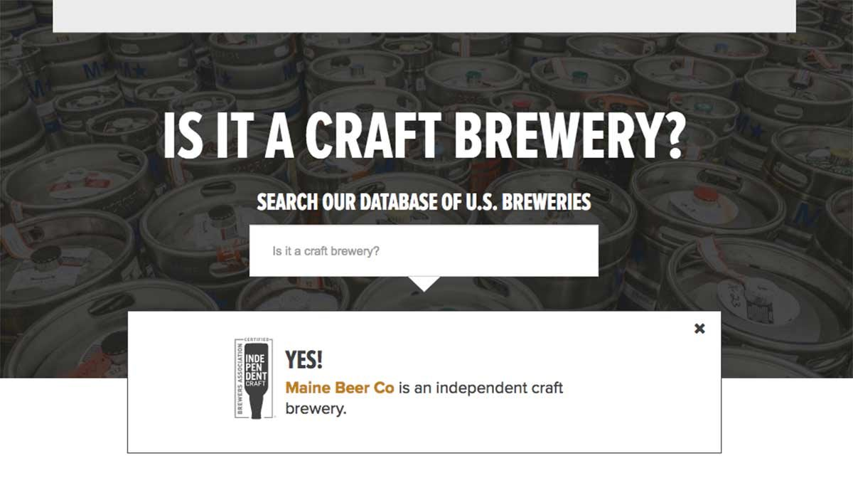 is it a craft brewery search engine