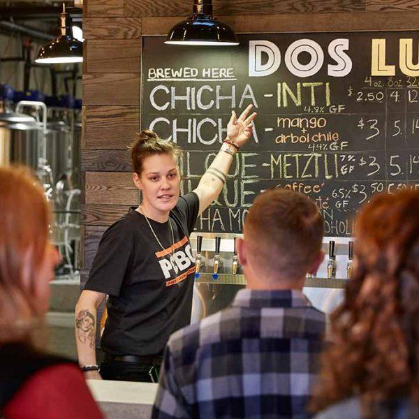 Dos Luces bartender Lauren Kane