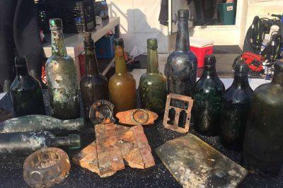 shipwreck beer bottles salvaged