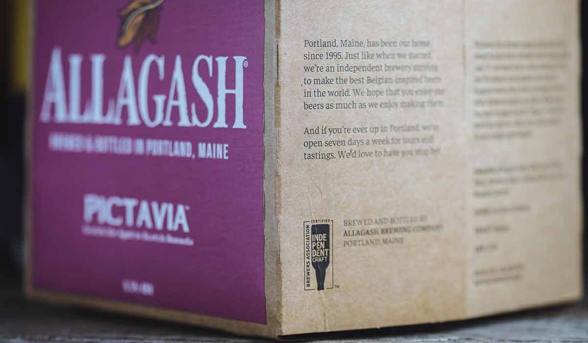 allagash brewing independent craft beer seal