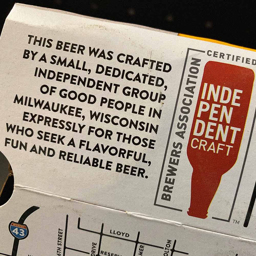 Lakefront Brewery independent craft beer seal