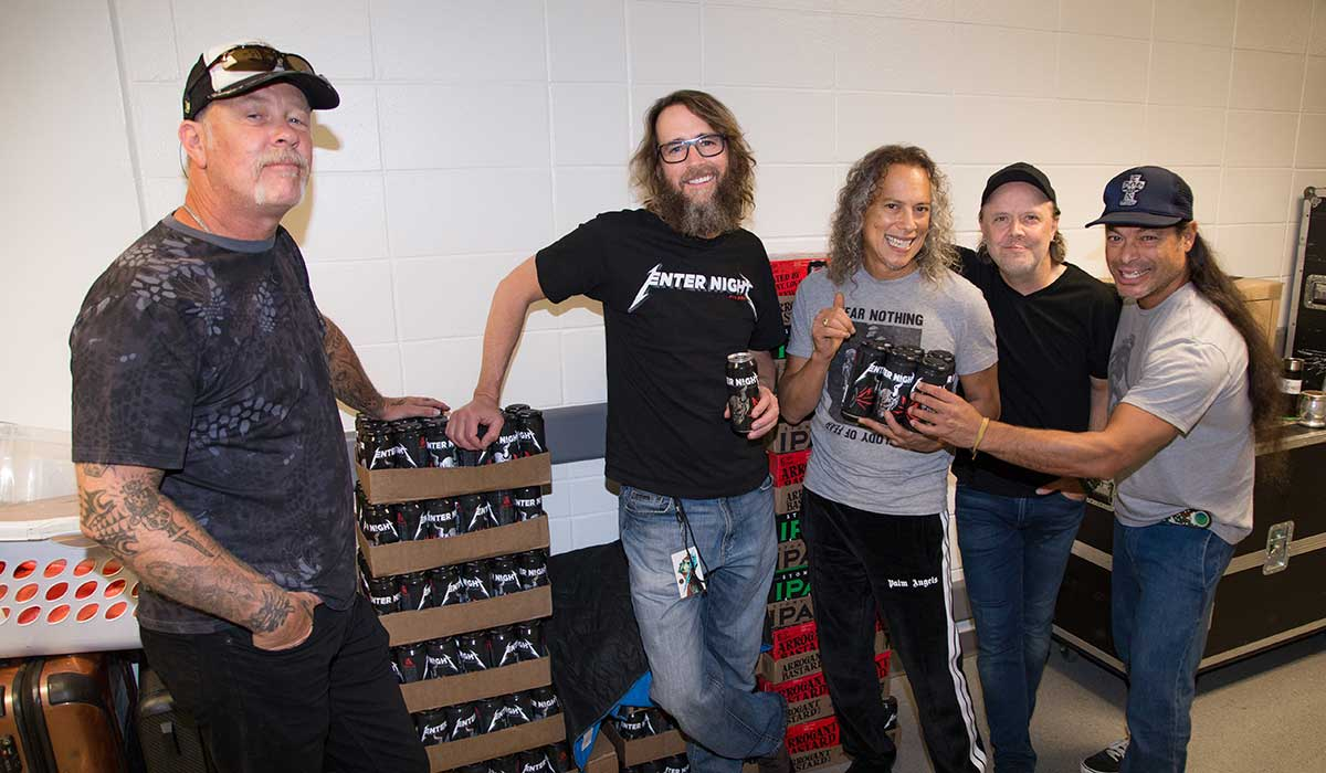 stone brewing metallica collaboration beer