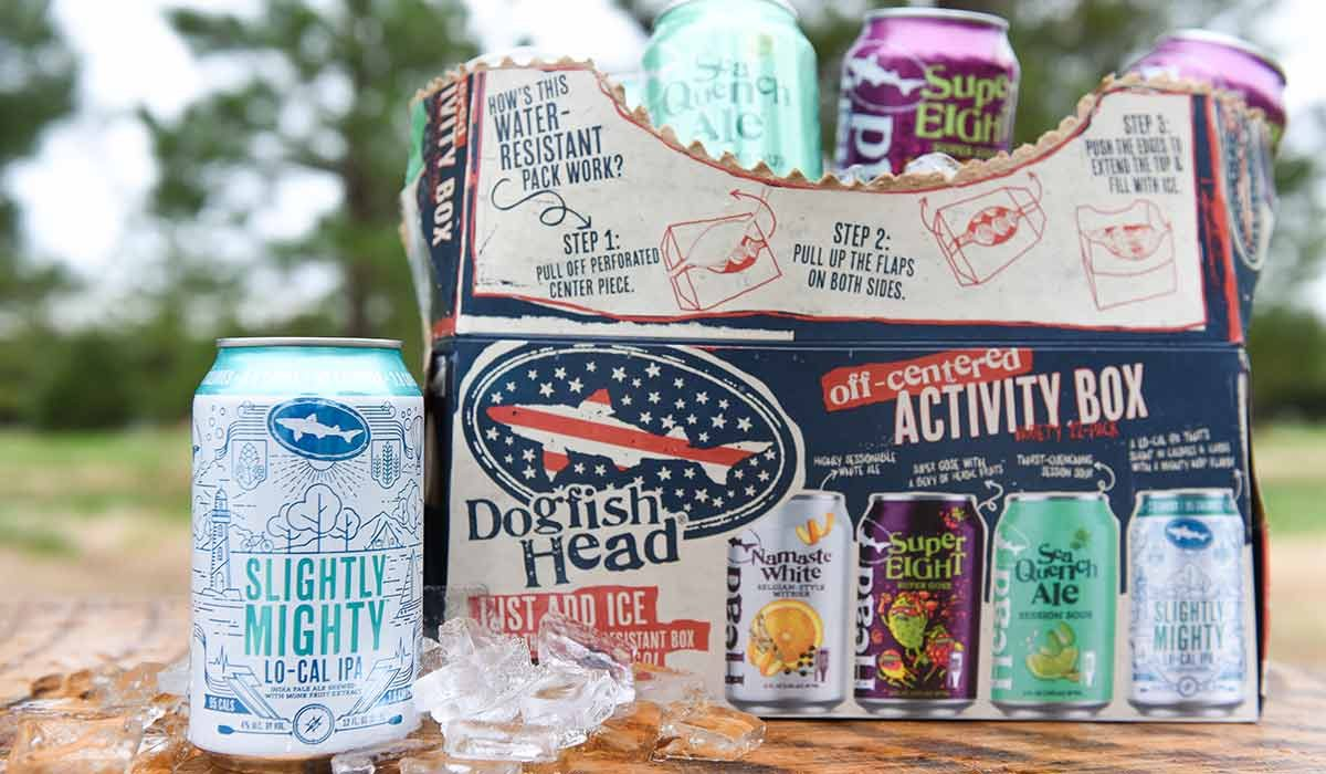 dogfish head activity box light beers