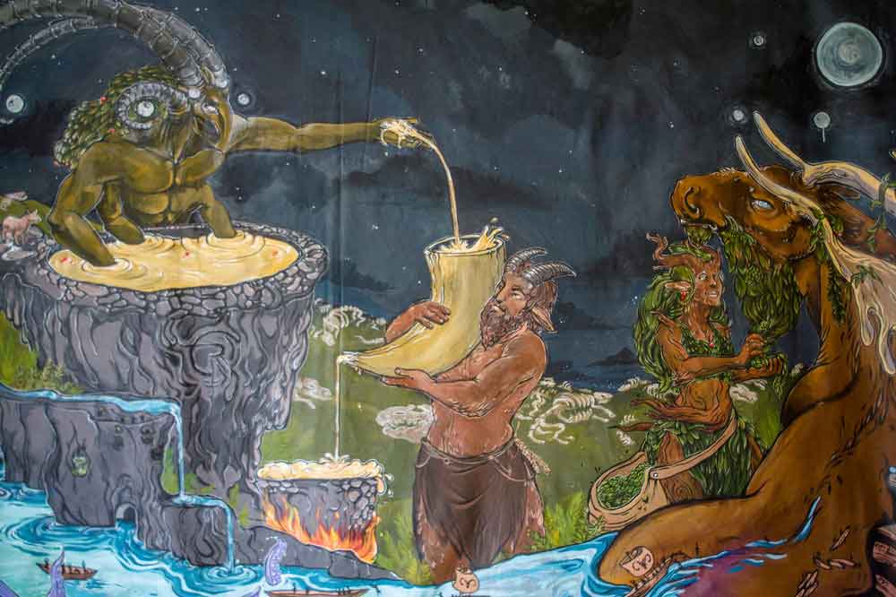 rabid god mural