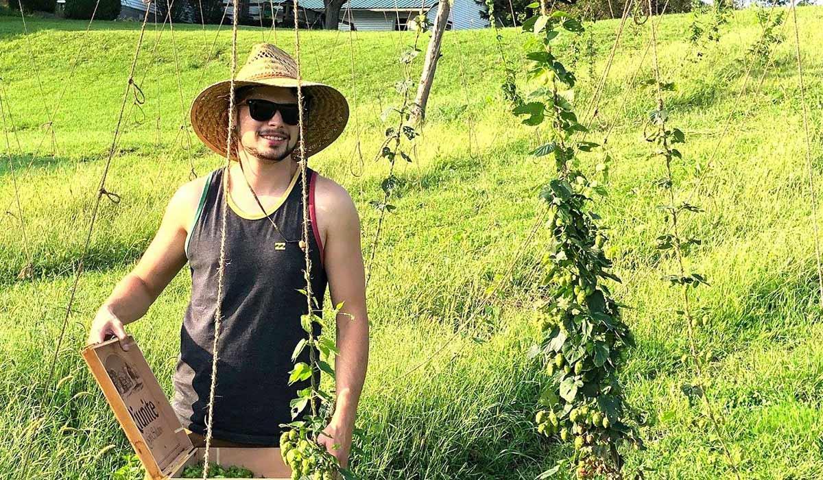 1812 brewery hop farming
