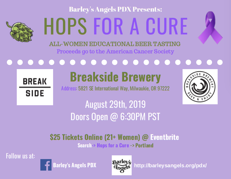 Barley's Angels PDX Presents: Hops For A Cure
