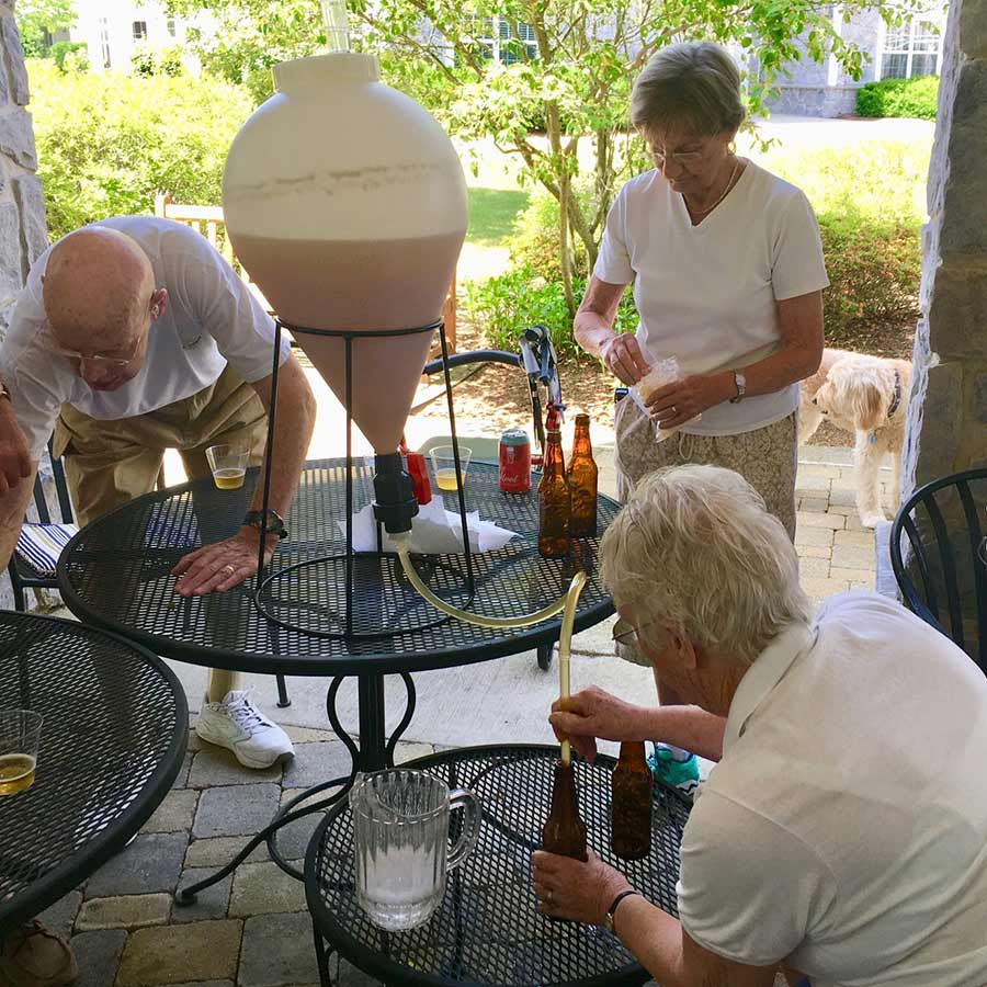 homebrewing at senior living center