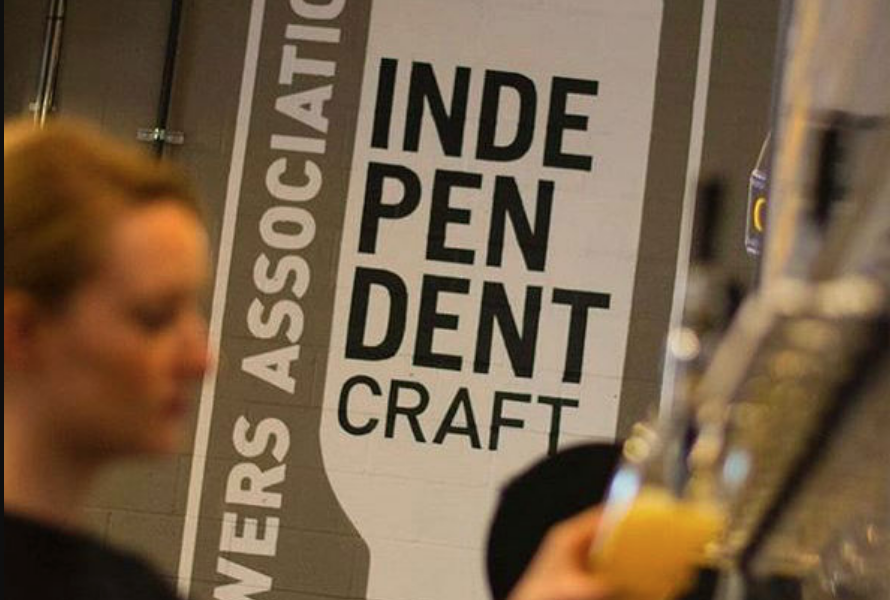 Certified Independent Craft wall signage inside brewery