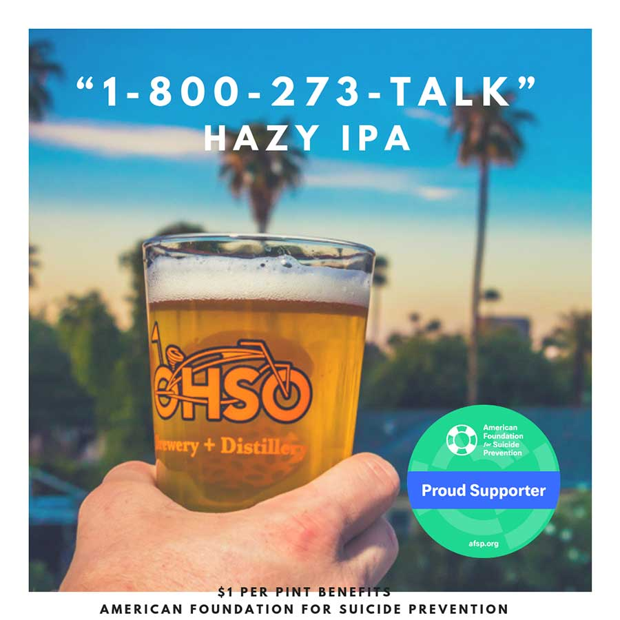 ohso brewing suicide prevention hotline beer