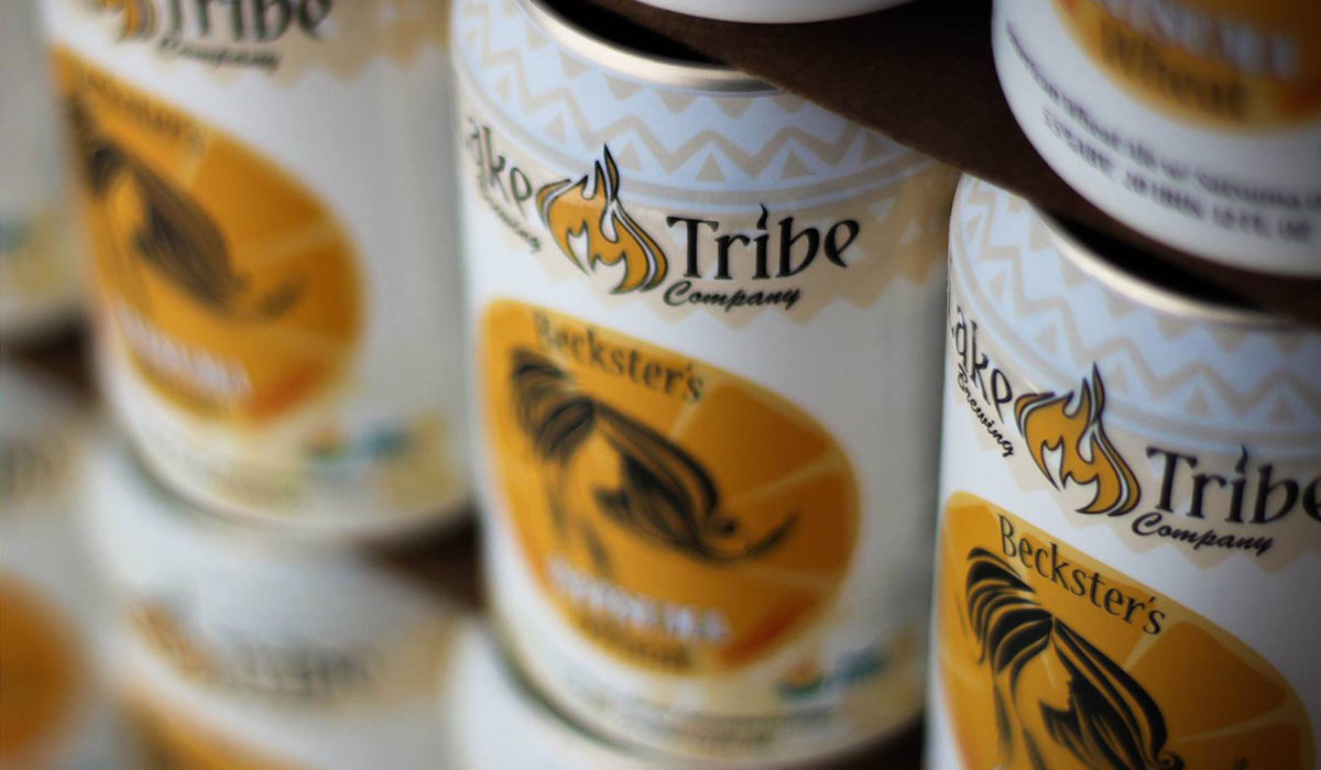 Lake Tribe Brewing's Beckster's Wheat Ale beer cans