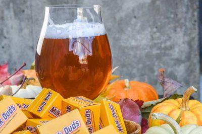 halloween candy beer pairing milk duds