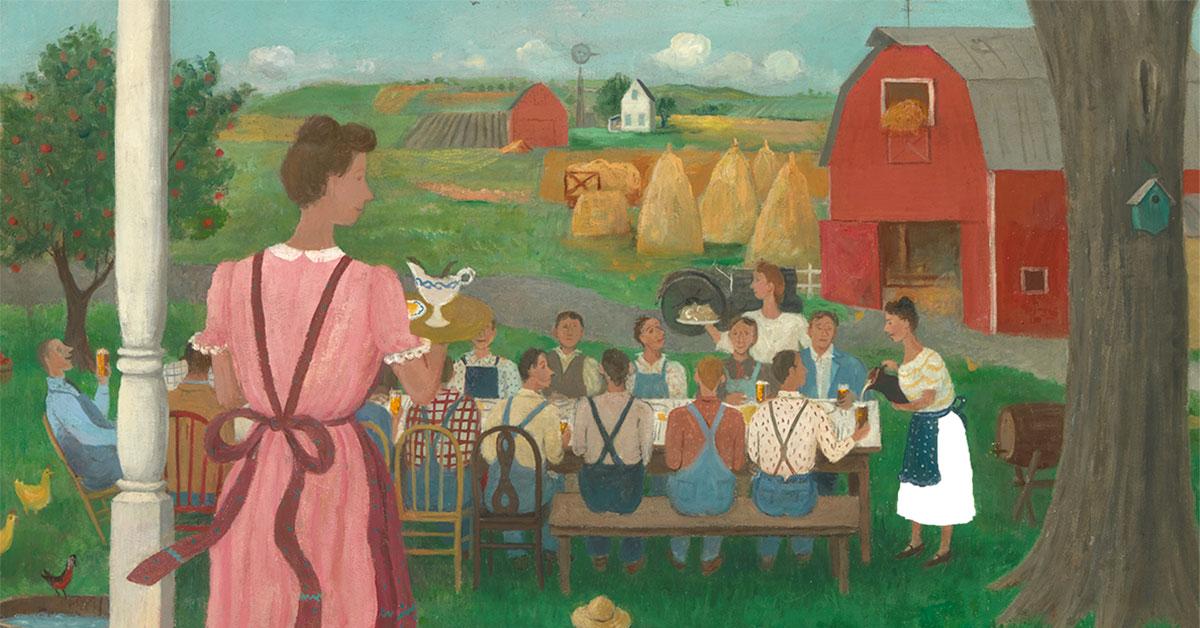 """""""Harvest Time"""" by Doris Lee"""
