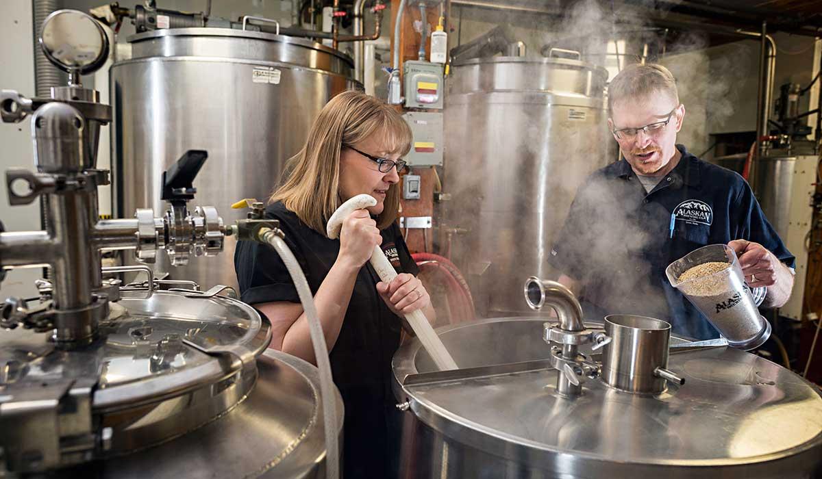 alaskan brewing employees brew
