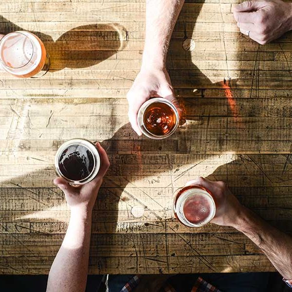 craft beers on table