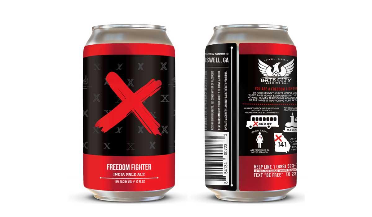 freedom fighter IPA beer human trafficking awareness beer
