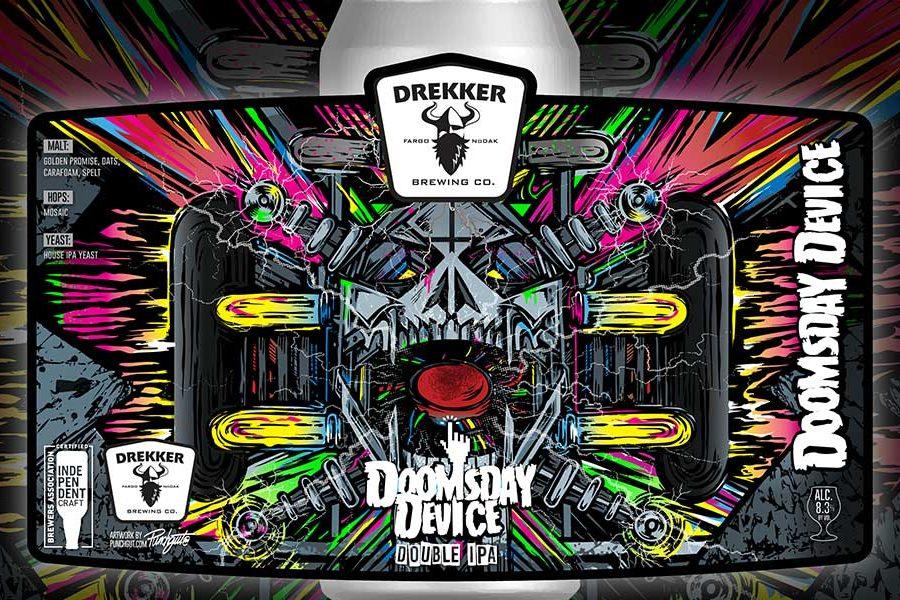 drekker beer doomsday device beer label