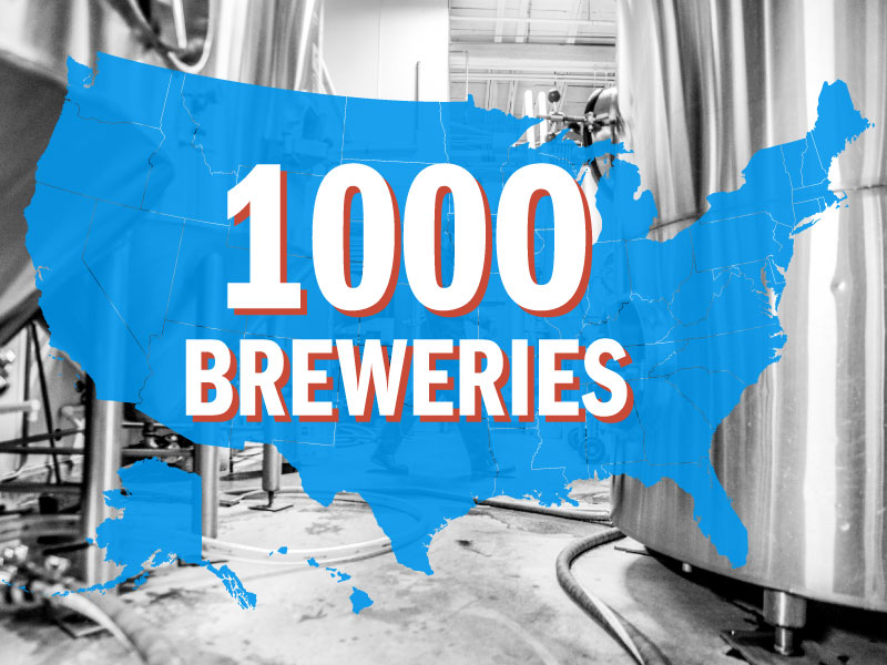 1000 u.s. craft Breweries