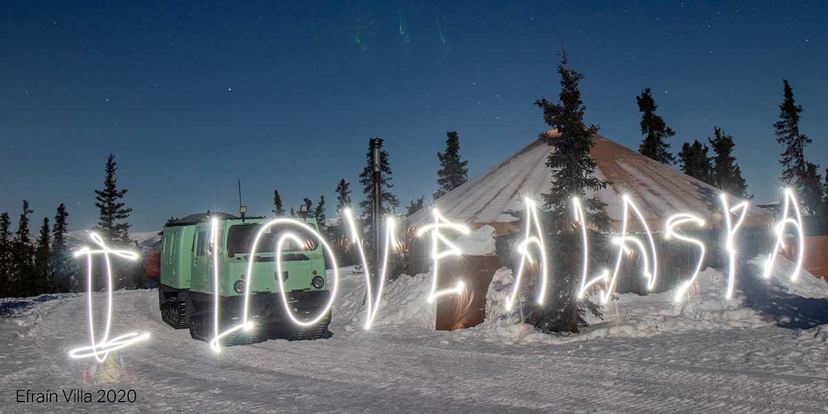 fairbanks alaska light painting