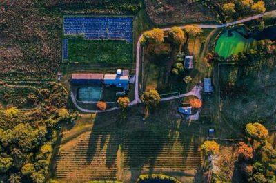 trillium farm brewery aerial