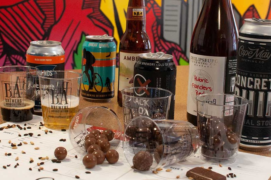malt ball craft beer tasting