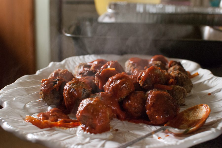 stout meatballs and tomato sauce