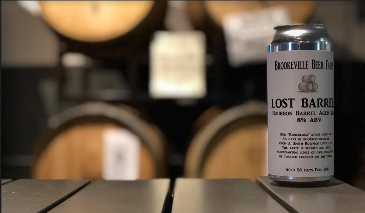 Brookville Beer Farm's Lost Barrel beer