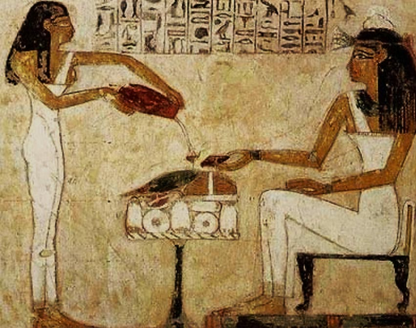 Egyptian hieroglyphics show women both brewing and drinking beer. (Public Domain)