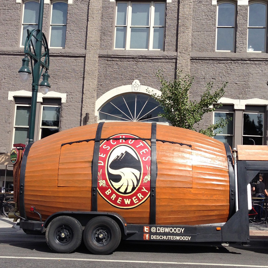 Deschutes 'Woody' beer trailer
