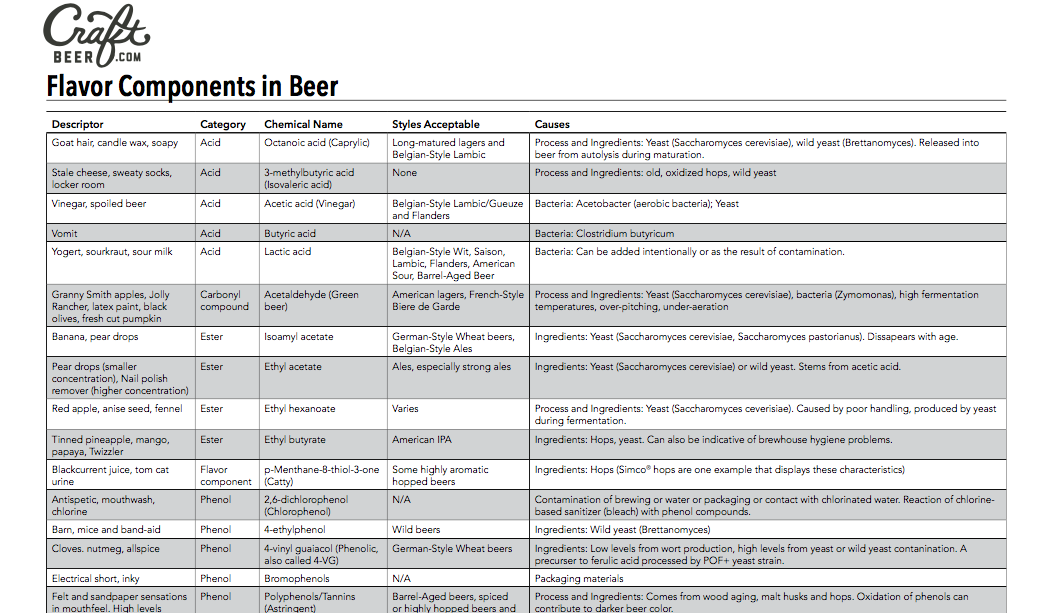 Flavor Components in Beer