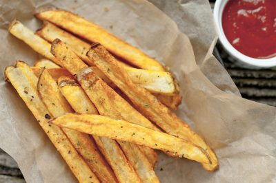 Garlic Salted Beer Baked French Fries