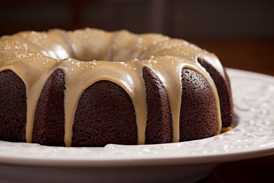 Gingerbread Stout Cake with Caramel Ale Sauce